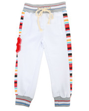 Arcade Styles - Jogger Pants W/ Stripes & Chenille Patch (2T-4T)-2313713