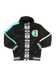 Activewear - Track Jacket W/ Stripes & Chenille Patch (4-7)-2313748