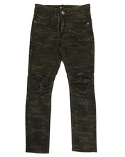 Bottoms - Pleated Knee Camo Moto Jeans (8-20)-2317041