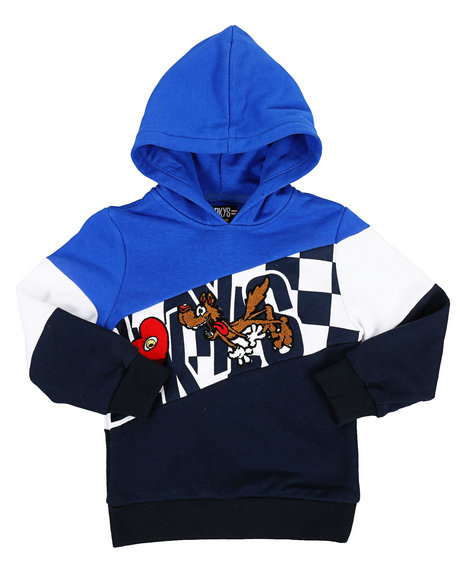 Arcade Styles - Color Block Hoodie W/ Chenille Accents (4-7)