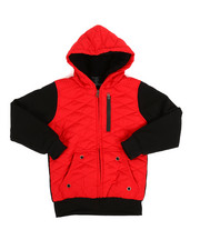 Outerwear - Sherpa Lined Quilted Fleece Jacket (8-20)-2313235