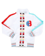 Activewear - Track Jacket W/ Stripes & Chenille Patch (4-7)-2313756