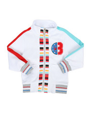 Activewear - Track Jacket W/ Stripes & Chenille Patch (2T-4T)-2313753