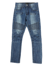 Bottoms - Pleated Knee Moto Jeans (8-20)-2317057
