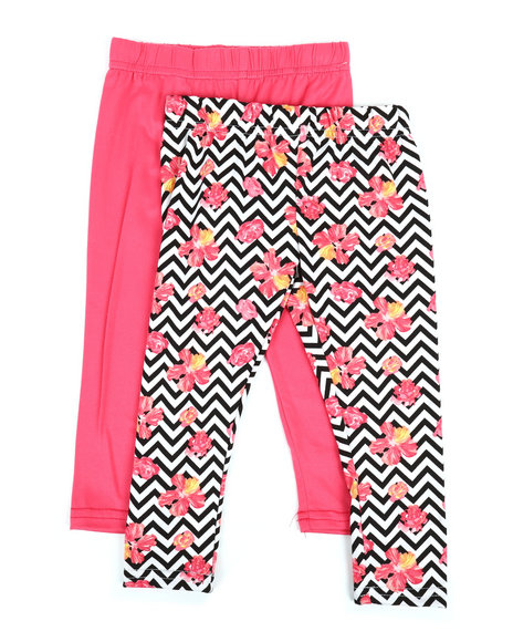 765770d73fcaa Buy 2 Pack Solid & Printed Capri Leggings (2T-4T) Girls Bottoms from ...