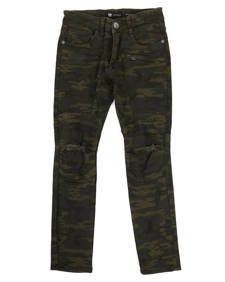Arcade Styles - Ripped Knee Camo Jeans (8-20)