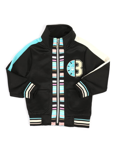 Arcade Styles - Track Jacket W/ Stripes & Chenille Patch (2T-4T)