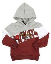 Hoodies - Color Block Hoodie W/ Chenille Accents (4-7)-2313828