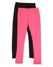 Girls - 2 Pack Solid Capri Leggings (7-16)-2315567