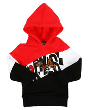 Hoodies - Color Block Hoodie W/ Chenille Accents (2T-4T)-2313843