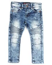 Phat Farm - Fashion Cut & Sew Moto Stretchy Skinny Denim Jeans (2T-4T)-2317008