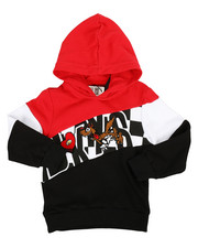 Arcade Styles - Color Block Hoodie W/ Chenille Accents (4-7)-2313856