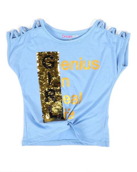 La Galleria - Twisted Front Top W/ 2-Way Sequin Art (4-6X)