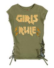Girls - Lacing Detail Top W/ Foil & Sequin Art (4-6X)-2315870