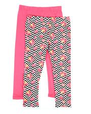 Girls - 2 Pack Solid & Printed Capri Leggings (4-6X)-2314917