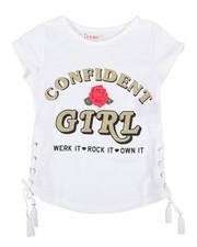 Girls - Fashion Top W/ Side Lacing & Glitter Art (4-6X)-2315993