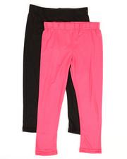 Girls - 2 Pack Solid Capri Leggings (4-6X)-2316324