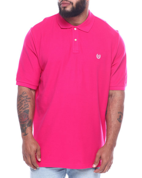 Chaps - Chaps Solid Pique Polo (B&T)