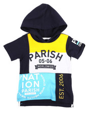 Hoodies - Color Block Hooded Tee (2T-4T)-2316381