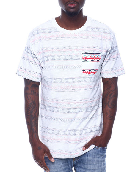 Buyers Picks - S/S Aztec Print Pocket Tee