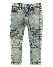 Jeans - Washed Denim Stretch Moto Skinny Jeans (2T-4T)-2316999