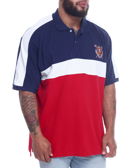 Chaps - Chaps Pieced Heritage Polo (B&T)