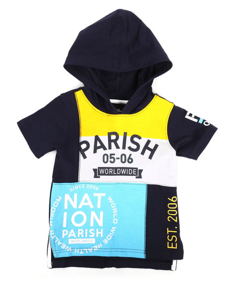 Parish - Color Block Hooded Tee (4-7)