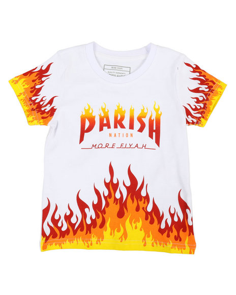 Parish - On Fire Printed Graphic Tee (2T-4T)