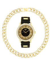 Accessories - Watch And Iced Out Cuban Necklace Gift Set-2313601