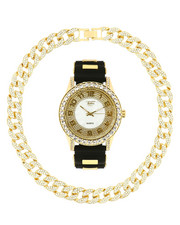 Accessories - Watch And Iced Out Cuban Necklace Gift Set-2313602