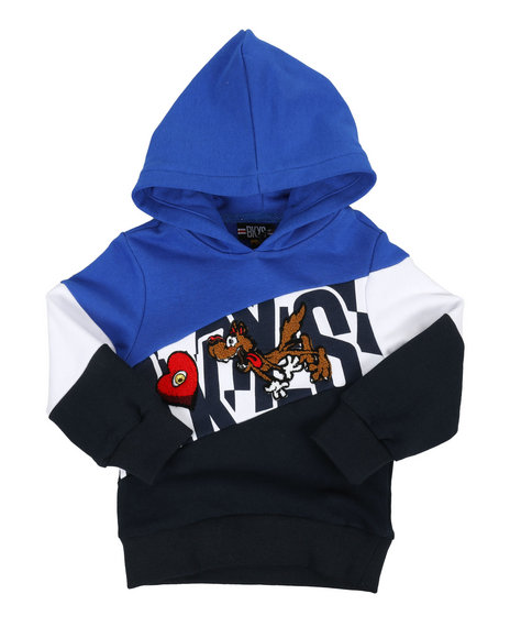 Arcade Styles - Color Block Hoodie W/ Chenille Accents (2T-4T)
