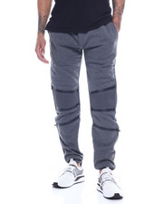 Sweatpants - Tape Zipper Articulated Knee Jogger-2317472