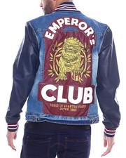 Men - Emperors Denim Varsity Jacket-2318254