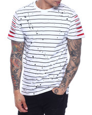 SWITCH - Striped Tee w Razor Slash Sleeves-2319164