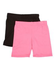 Girls - 2 Pack Bike Shorts (4-6X)-2316328