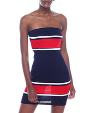 Almost Famous - Strapless Color Block Tube Dress-2318315
