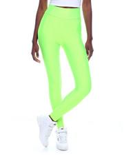 Fashion Lab - High Waist Shinny Nylon Legging-2319966