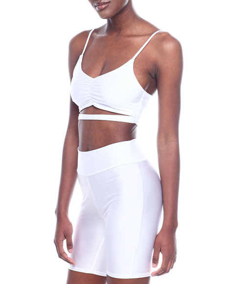 Fashion Lab - S/L Solid Shinny Nylon Crop