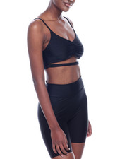 Athleisure for Women - S/L Solid Shinny Nylon Crop-2320101