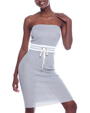 Athleisure for Women - Strapless Stripe Tie Waist Dress-2318579