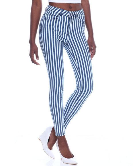 Almost Famous - Stripe 5 Pocket Skinny Jean