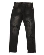 Jeans - Basic Denim Jeans w/ Rip & Repair Detail (8-20)-2318685