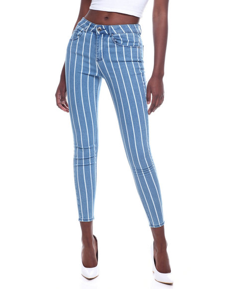 Almost Famous - Stripe 5 Pocket Skinny Jean