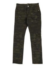 Arcade Styles - Moto Rip & Repair Camo Jeans (8-20)-2318717