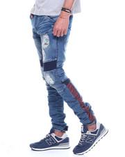 Iroochi - Distressed Knit Ribbed Moto Jean-2320153