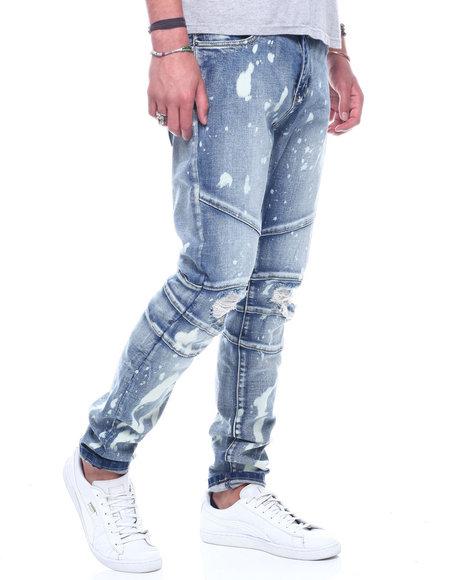 Crysp - Montana Bleach Splatter  Distressed Moto Jean