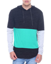 Hoodies - CUT AND SEW COLORBLOCK JERSEY W HOOD-2320712