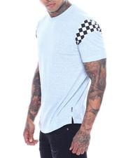 Men - Contrast Sleeve Scoop Hem Tee-2321448