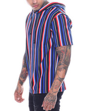 T-Shirts - STRIPE SS HOODIE-2321634