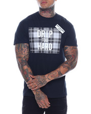 T-Shirts - drip too hard plaid tee-2321501
